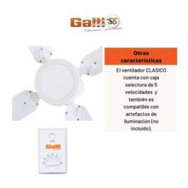 Ventilador de Techo Gatti Metálico